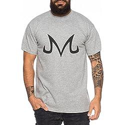 Majin Sign from Boo Dragonball Men T-Shirt Nerd in, Colour:Dunkelgrau Meliert;Größe2:L