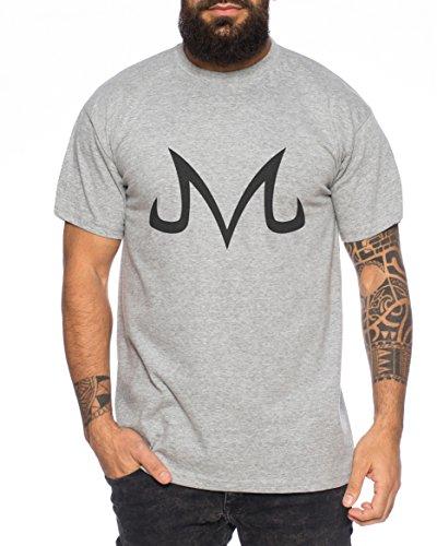 Majin Sign from Boo Dragonball Men T-Shirt Nerd in, Colour:Dunkelgrau Meliert;Größe2:S