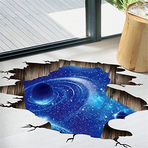 Wawer 3D-Brücken-Boden-Wand-Aufkleber-entfernbare Wandabziehbild-Vinyl-Kunst-Wohnzimmer (Colour A) (Decke-wand-abziehbilder)