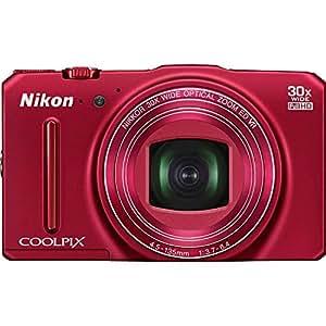"""Nikon Coolpix S9700 Appareil photo numérique compact 16 Mpix Écran LCD 3"""" Zoom optique 30X Rouge"""