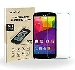 SuperMay BLU Studio G Plus screen protector, 9H Hardness, 2.5d Rounded Edges, 0.26mm Thickness,Ultra-thin Highest Quality Premium Tempered Glass Screen Protector with Lifetime Replacement Warranty
