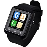 5ive U80 Bluetooth 4.0 Smart Wrist Wrap Watch Phone for Smartphones IOS Android Apple iphone 5/5C/5S/6/6 Puls Android Samsung S3/S4/S5 Note 2/Note 3 Note 4 HTC Sony (Black) by 5ive