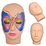Beautystar Make Up Kopf flach Praxis Training Head Schraubenmännchen Kosmetologie Mannequin Puppe Face Head