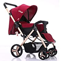 LuvLap Travel Light Strollers with Superior Safety (Red)
