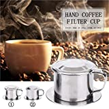 LASISZ Tasse Kaffeemaschine Vietnam Durable Vietnamesisch Kaffeefilter Kaffeefilter Kaffeefilter Tasse Tragbare Rotary Tool Maker, 50ml