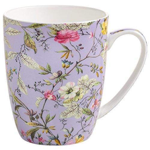 Maxwell & Williams Kilburn Becher, Porzellan, lila, bunt, 11.5 x 8.5 x 10.5 cm (Lila Becher Tasse)