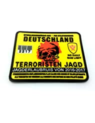 Alemania Terrorista Alemán Permiso de la Caza de Airsoft Velcro PVC Parche