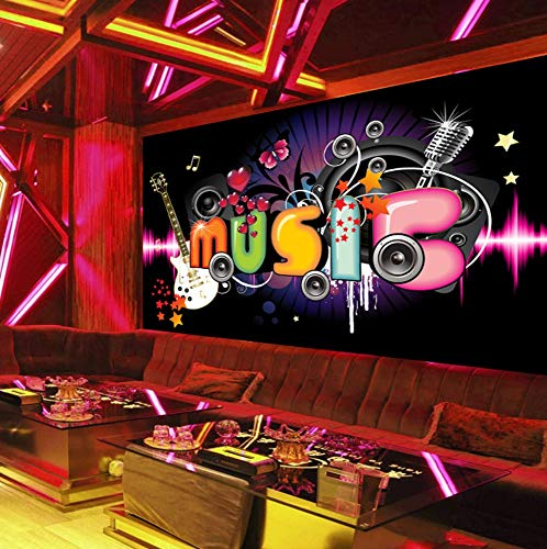 erte 3D Moderne Einfache Musik Thema Fototapete Ktv Disco Fantasy Dance Hintergrund Wandmalereien 450X300Cm ()