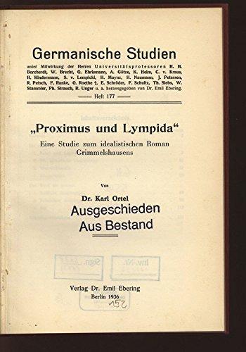 proximus-und-lympida-eine-studie-zum-idealistischen-roman-grimmelshausens