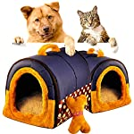 ACTNOW Pet house 2-in-1 and Classic Portable Washable Sofa Non-Slip Dog Cat Cave House Beds with Removable Cushion Warm… 13