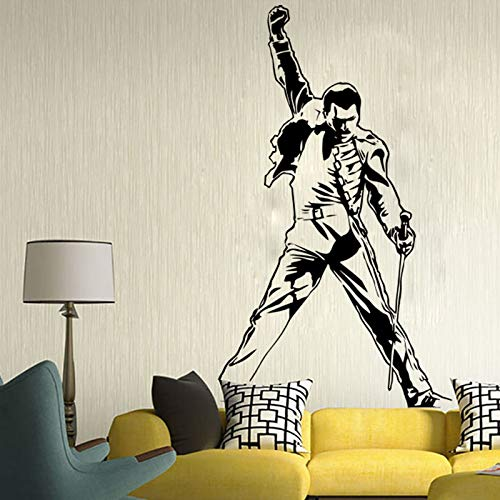 Freddie Mercury Wall Decals Metal Rock Music Characters Vinyl Stickers Room Teenagers Children Music Posters Art Deco 57 * 91CM Art-deco-rock