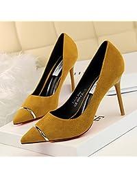 Xue Qiqi lumière pointe-satin chaussures unique très bien avec des chaussures de talon femmes et,38, en rouge
