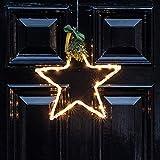 Lights4fun Acryl 25er Micro LED Stern Fensterbild Weihnachten Batteriebetrieb Timer