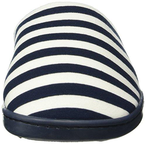 womensecret Mu1 - Stripes Slprs - Tongs Femme bleu (MARINE BLUE)