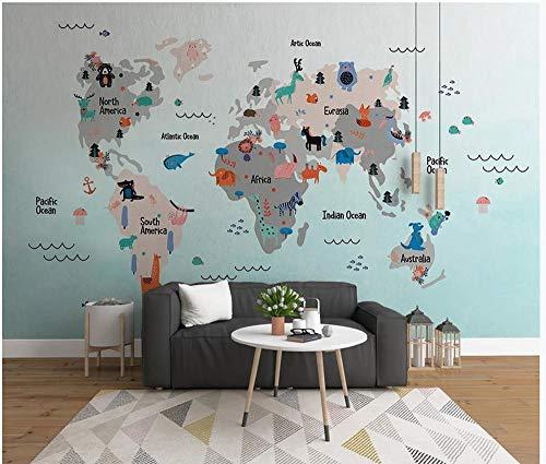 artoon Karte Schlafzimmer Wohnzimmer Kinderzimmer Hintergrund Wandmalerei Benutzerdefinierte Beliebige Größe ()