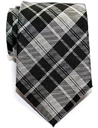 Retreez Modern Tartan Check Styles Woven Microfiber Men's Tie - Various Colors