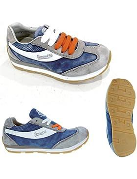 Canguro Zapatillas de Piel Para Niño Azul Aviation Blue 25 EU