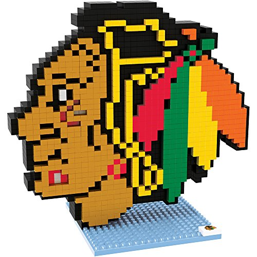 Chicago Mini (Forever Collectibles NHL Mini brxlz Logo Bausteine, Unisex, PZNH3DLGCBH, Chicago Blackhawks, Einheitsgröße)
