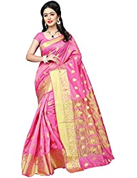 Indian Fashionista Women's Silk Embroidered Saree With Blouse Piece - NRPT1129D_Pink_Free Size