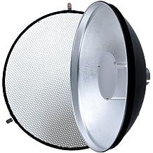 Godox Beauty Dish AD-S3 con rejilla AD-S4 para WITSTRO Speedlite flash AD180 AD360 (Reflector con rejilla)