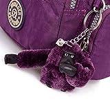 Amison Classic Waterproof Nylon Handbag Shoulder Diagonal Bag Messenger (Purple)