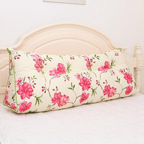 MMM- Coussin triangulaire de coussin de lit de chevet de coussin de taille de lit de grande taille lavable ( Couleur : #2 , taille : 120*20*50cm(3 buckles) )
