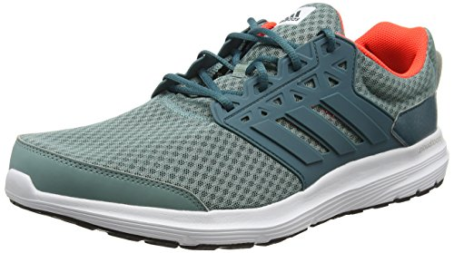 adidas Galaxy 3, Men's Training Running Shoes, Green (Vapour Steel / Tech Green / Solar Red), 8 UK (42 EU)