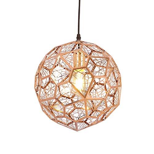 Hyvaluable Anhänger Decke Hängelampe Beleuchtung Geometrische Diamantkugel Kronleuchter Schlafzimmer Restaurant Bar Treppen Bekleidungsgeschäft Polygon Pendelleuchten (Farbe : Roségold) -