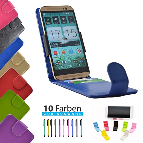 4 in 1 set ikracase Slide Flip Hülle für Haier Phone L50 Tasche Case Cover Schutzhülle Smartphone Etui in Blau