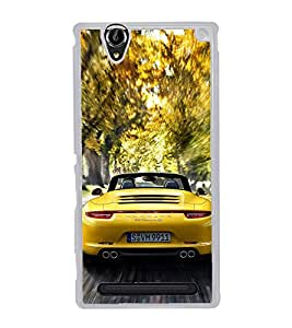 Racing Car 2D Hard Polycarbonate Designer Back Case Cover for Sony Xperia T2 Ultra :: Sony Xperia T2 Ultra Dual SIM D5322 :: Sony Xperia T2 Ultra XM50h