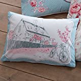 Dreams 'n' Drapes Patsy Bettwäscheset, Zitronengelb, Polycotton, Rose, 38x28 cm Filled Cushion