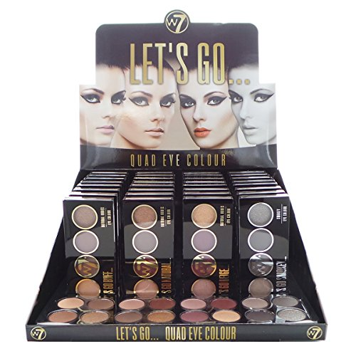 W7 Let's Go Quad Eye Color Display Set, 32 Pieces Plus Display Testers