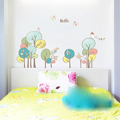 Stazsx Wandtattoos Wandbilder DIY Home Kunst Wand Dekor Decals Schlafzimmer Aufkleber Papier Kinderzimmer Wandaufkleber,Greenwood Greenwood Wallpaper
