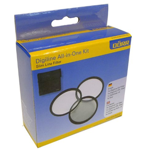 Dörr Digi Line All-in-One Filter Kit (je 1x UV Filter, Zirkular Polfilter, Nahlinse +4 Dioptrien) für Objektiv 67 mm inkl. Aufbewahrung Etui