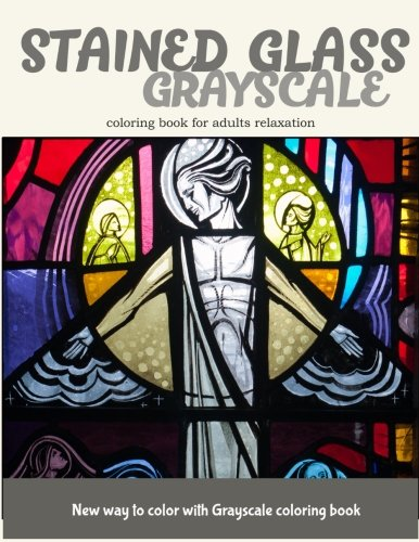 Stained Glass GrayScale Coloring Book for Adults Relaxation: New Way to Color with Grayscale Coloring - Crayola Kostüm