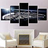 Dmyhope Druck Auf Leinwand Star Wars 5 Panel Cafe Inkjet Schlafzimmer Wohnzimmer Dekoration Gemälde,B,40X60x2+40X80x2+40X100x1