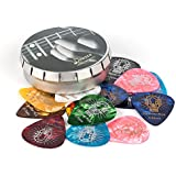 Celluloid Guitar Pick, Donner 16pcs Guitar Plectrums Including Thin, Medium, Heavy & Extra Heavy Gauges (0.46mm-1.2mm)