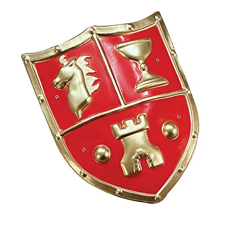 Bristol Novelty ba178 PVC Mittelalter Typ Shield, Gold, One ()