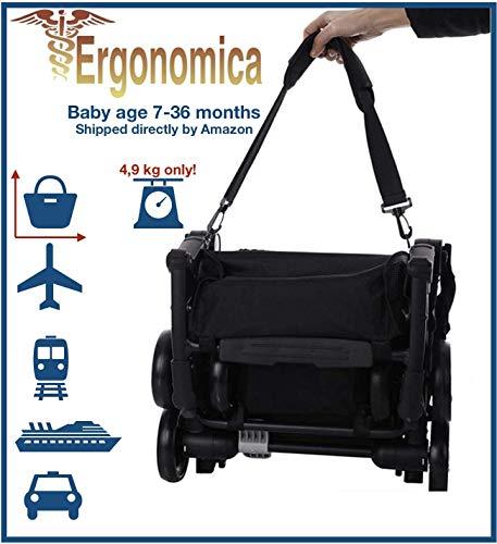 LIGHTY Kompakter Kinderwagen für Kinder von 7 bis 36 Monaten. bis zu 15 kg