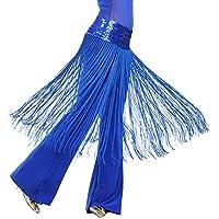 BOBORA Donna Della cinghia della sciarpa del pannello esterno dell'anca brillante danza del ventre orientale della frangia della nappa