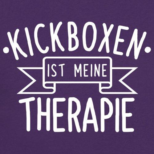 Kickboxen ist meine Therapie - Damen T-Shirt - 14 Farben Lila