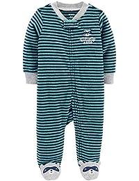 Schlafanzug Einteiler Füße Fleece 74//80 Winter warm USA Strampler lila Herzen