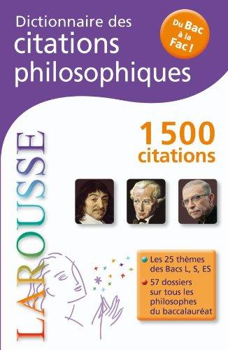 Dictionnaire des citations philosophiques - Du Bac  La Fac