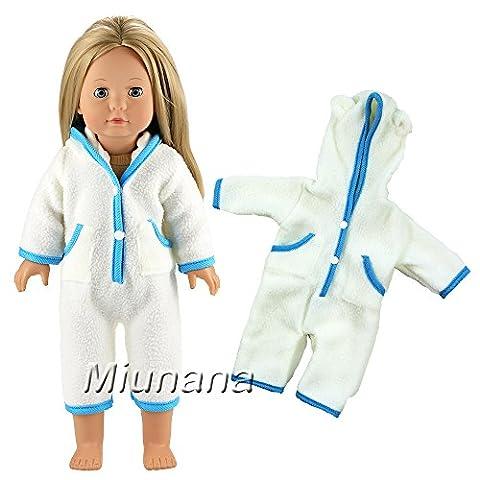 Miunana Kleidung Strampler Kleid Puppen für 46-50cm Götz Stehpuppen Götzpuppe Puppen 18 Inch American Girl Dolls Goetzpuppe
