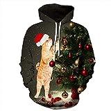 BaZhaHei Mode Damen Frauen Männer Weihnachten Weihnachten 3D Santa Printed Sweatshirt Pullover Hoodies Tops Elegantes Sweatshirt Pullover Bluse Outwear Hoodie