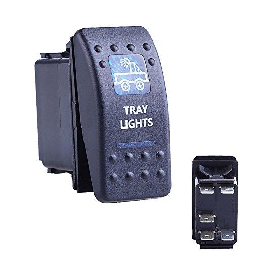Descripción:Material: ABS & anti-retardant del medio ambiente materialesColor: NegroLED Color de la Luz: AzulNúmero de luz: 2LED LuzDimensión: como el de la imagenTipo: SPSTElectrial: ON-OFFPin: 5DC 12V/20A, V/10AApto para todos 12/instalaci...