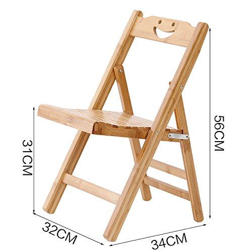 TYz Klappstuhl Holz Klappstühle Bambus Klappstühle Portable Bamboo Stühle (größe : 2#)