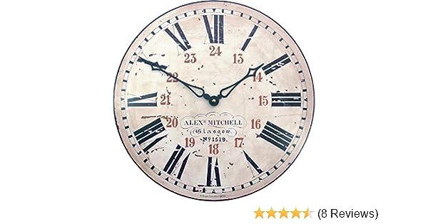 14.2-Inch Roger Lascelles Clocks PUB//RAIL Roger Lascelles Railway Station Wall Clock