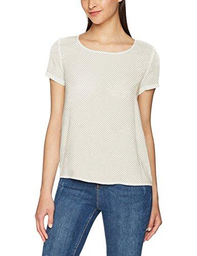 ONLY Damen T-Shirt Onlfirst SS MIX Aop Top Noos Wvn, Mehrfarbig (Cloud Dancer Aop:W.Black Dot), 42 (Kurzarm-t-shirt Dots)