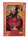 La Señorita Muñeca Flamenco Barbie España Vestido Disfraz rojo puntos negro